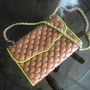 Rebecca minkoff studded affair tan and yellow  bag